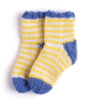 Вязание спицами носочков для новорожденного 1