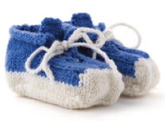 Вязаные пинетки ботиночки спицами