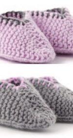 vyazanye pinetki tapochki spicami 150x280 - Вязаные пинетки спицами для новорожденных схемы и описание