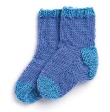Вяжем носочки для новорожденных 1