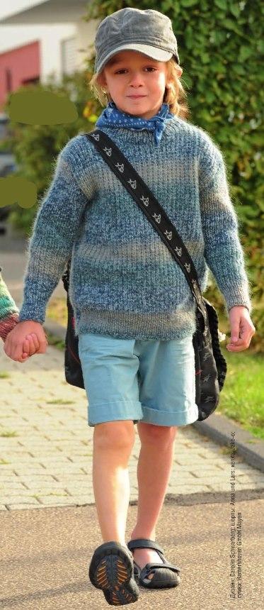 detskij pulover svyazannyj rezinkoj - Вязаный свитер для мальчика спицами