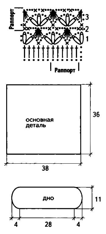 vyazanaya kryuchkom sumka meshok shema - Вязаные сумки крючком