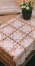 vyazanaya skatert kryuchkom iz motivov 150x280 - Вязаные скатерти крючком со схемами и описанием