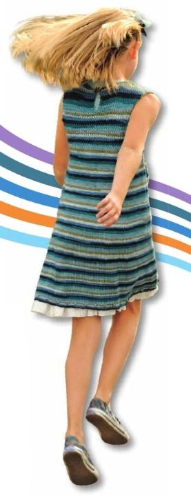 Вязаное детское платье спицами 1