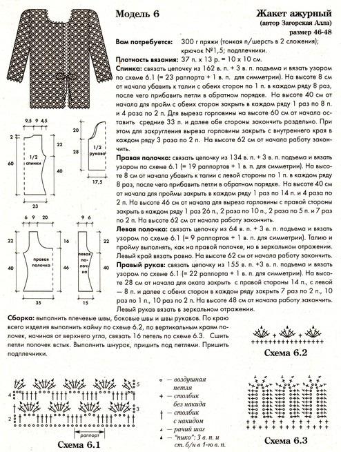 belyj zhaket krjuchkom 2 - Вязаные жакеты крючком со схемами для женщин