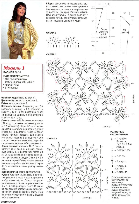 Кофты на осень крючком со схемами и описанием