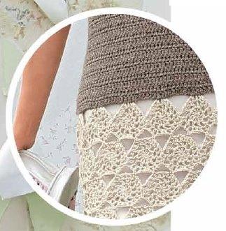 Вязаное кружевное платье крючком 1