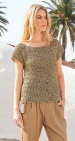 vyazanyj pulover kryuchkom zhenskij 150x280 - Вязаный пуловер крючком для женщин схемы и описание