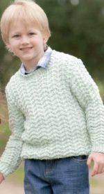 vyazanyj pulover spicami dlya malchika a 150x280 - Вязаный свитер для мальчика спицами