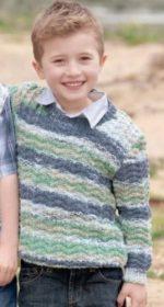 vyazanyj pulover spicami dlya malchika b 150x280 - Вязаный свитер для мальчика спицами