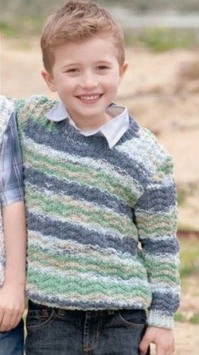 vyazanyj pulover spicami dlya malchika b - Вязаный свитер для мальчика спицами