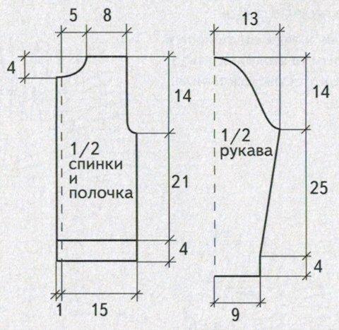 zhaket dlja devochki 6 let spicami vykrojka - Вязаный жакет для девочки спицами схемы и описание
