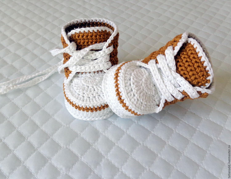 Пинетки крючком - вязание пинеток крючком для новорожденных