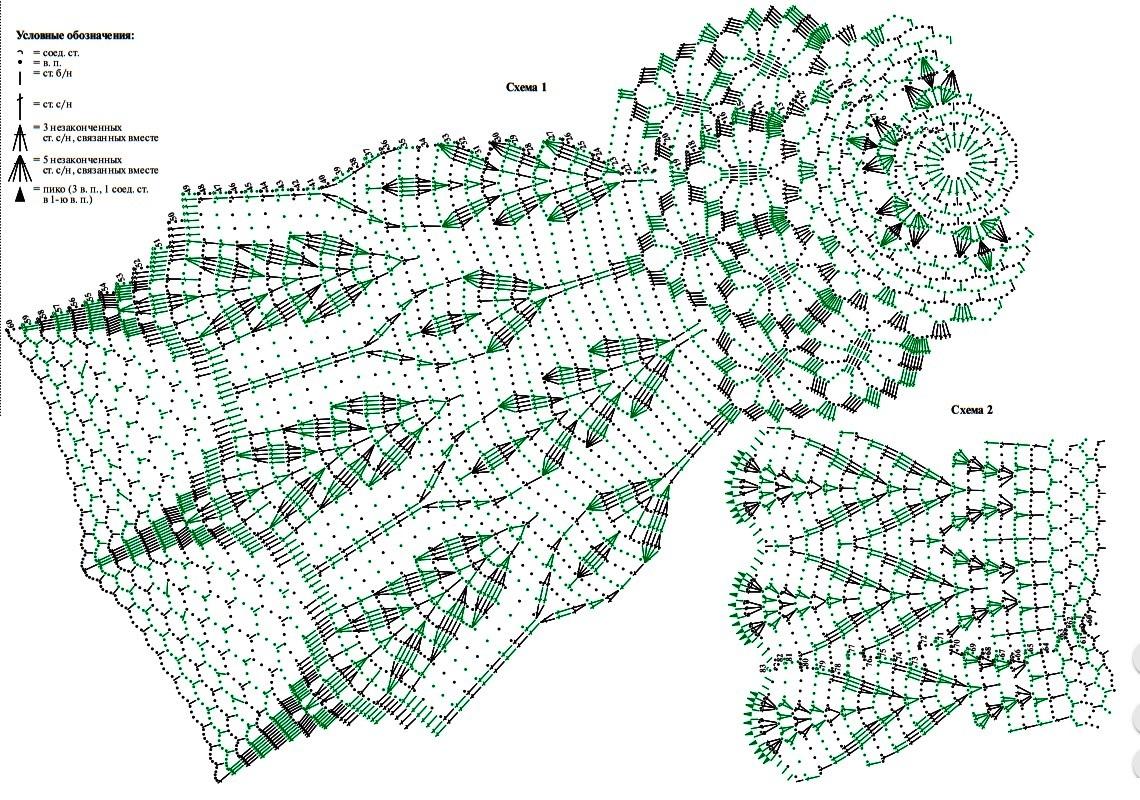 skatert krjuchkom shema 2 - Вязаные скатерти крючком со схемами и описанием