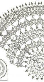 skatert krjuchkom shema 4 150x280 - Вязаные скатерти крючком со схемами и описанием