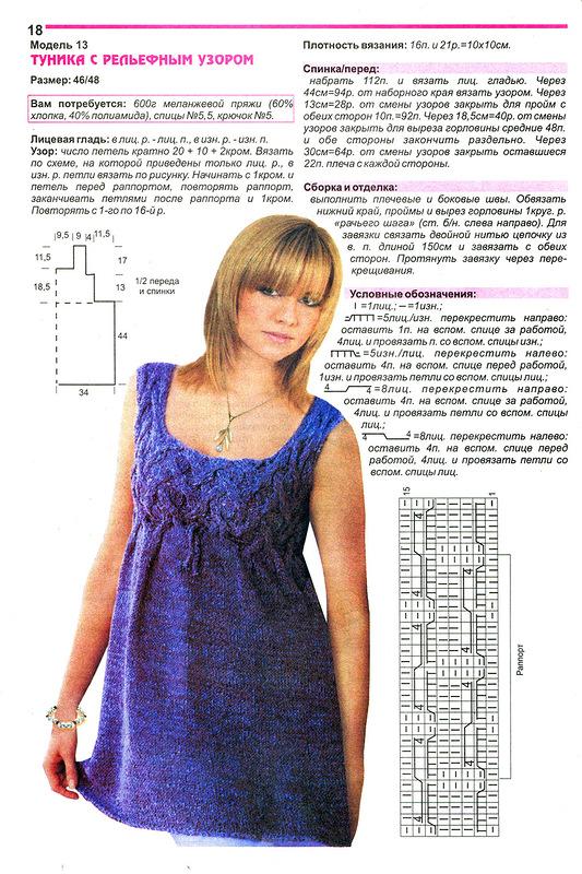 spicami dlja polnyh zhenshhin 2 - Вязаные туники для полных спицами со схемами