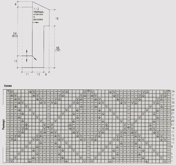 tunika spicami dlya polnyx zhenshhin shema - Вязаные туники для полных спицами со схемами