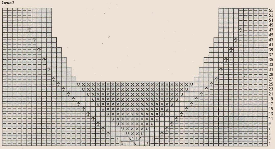 vyazanaya tunika spicami dlya polnyx dam shema 2 - Вязаные туники для полных спицами со схемами