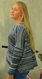 vyazanyj pulover spicami v polosku 150x280 - Вязаный пуловер в полоску спицами для женщин