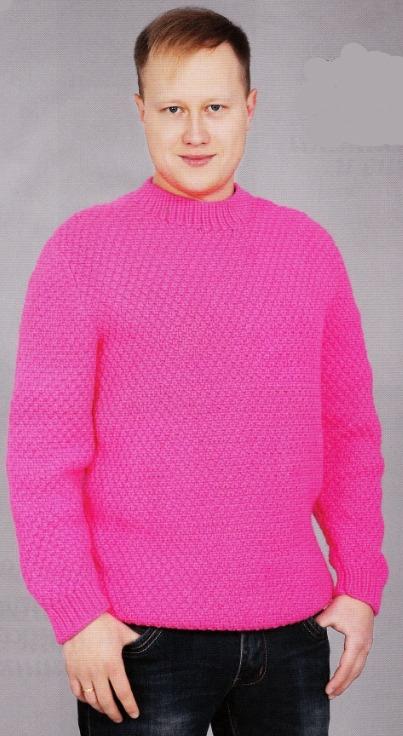 Пуловер связанный для мужчин спицами