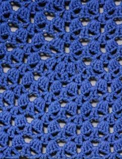 Синее вязаное платье крючком элемент 2