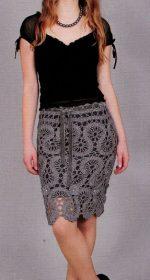 vyazanaya azhurnaya yubka kryuchkom 150x280 - Вязаная юбка крючком схемы и описание для женщин