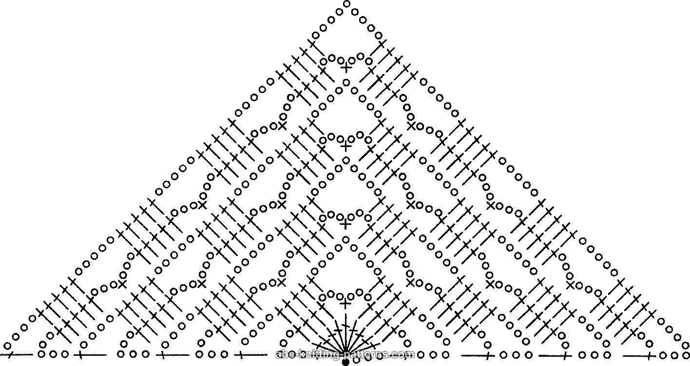 shal krjuchkom shema 5 - Вязаная шаль крючком схемы и описание
