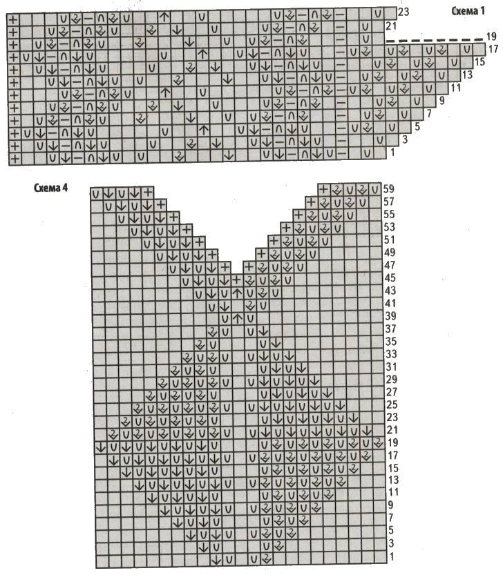 Вязаное платье спицами для женщин схема 1 4