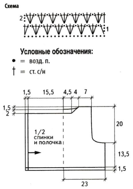 Безрукавка крючком со схемами