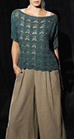vyazanyj sero zelenyj pulover spicami 150x280 - Зеленые пуловеры