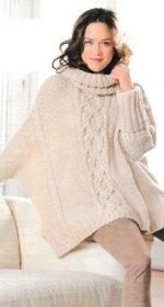 pulover oversajz spicam 150x280 - Вязаные свитера оверсайз спицами схемы и описание