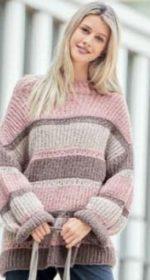 pulover oversajz spicami 1 1 150x280 - Вязаный пуловер оверсайз спицами описание и схема