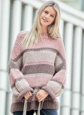pulover oversajz spicami 1 1 - Вязаный пуловер оверсайз спицами описание и схема