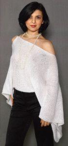 белая кофта спицами для женщин