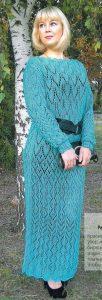 ажурное платья спицами