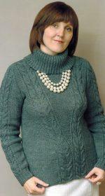 cviter s kosami spicami zhenskij 150x280 - Вязаные свитера с косами спицами схемы с описанием