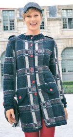 vyazanoe korotkoe palto spicami dlya zhenshhin 150x280 - Вязаное пальто спицами для женщин схемы и описание