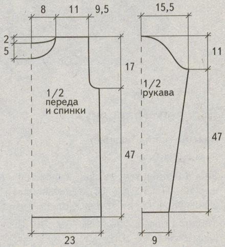 kak svjazat azhurnyj pulover spicami vykrojka - Вязаный ажурный пуловер спицами схемы и описание