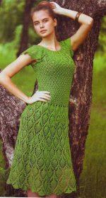 plate ananasy kryuchkom 150x280 - Вязаные платья крючком
