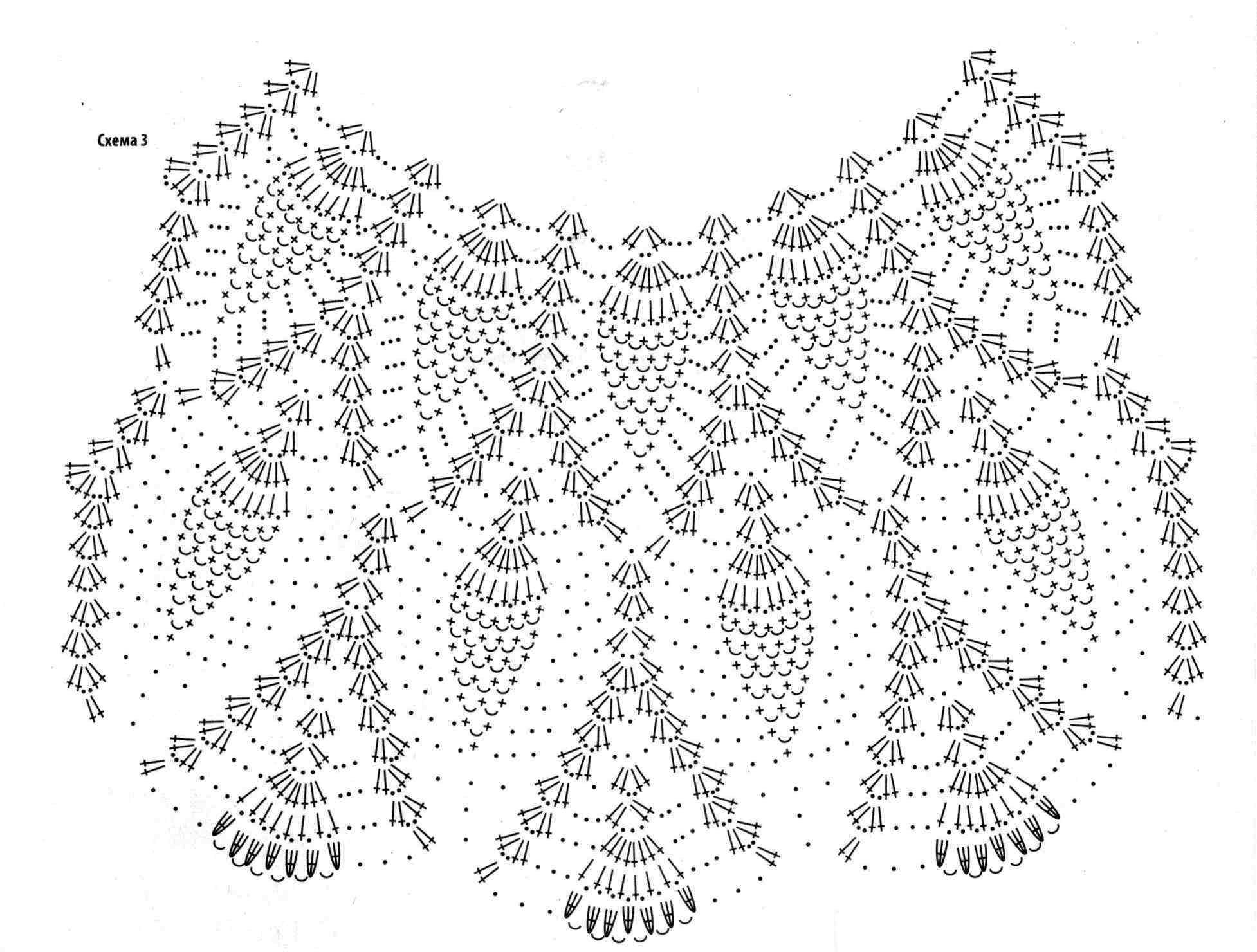 plate ananasy kryuchkom sxema 2 - Вязаное платье крючком узором ананас