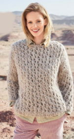 vjazanyj pulover spicami s azhurnym uzorom 150x280 - Вязаный ажурный пуловер спицами схемы и описание