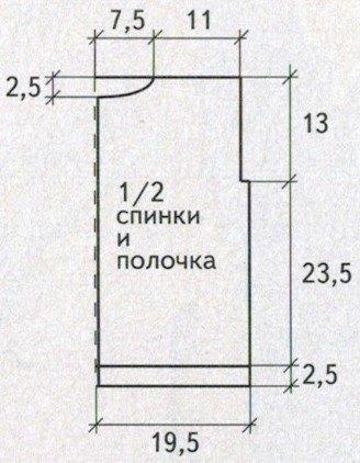 zhilet dlya devochki 5 let spicami shema vykrojka - Вязаный жилет для девочки спицами схемы и описание