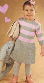 plate dlja devochki 2 goda spicami 150x280 - Вязаное платье для девочки спицами