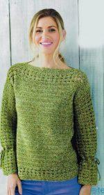 azhurnye pulovery krjuchkom dlja zhenshhin 150x280 - Вязаный пуловер крючком для женщин схемы и описание