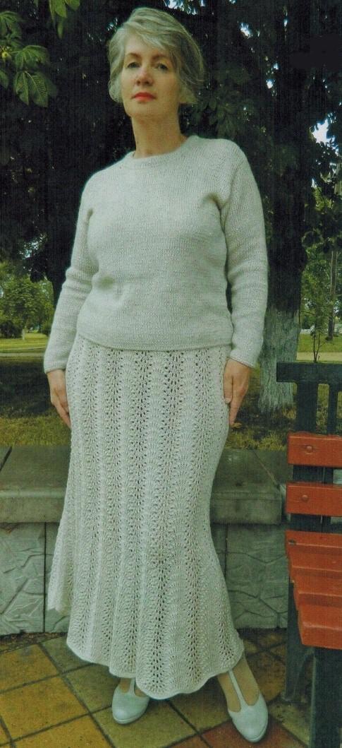 kostjum jubka i kofta spicami - Вязаные костюмы для женщин спицами со схемами и описанием