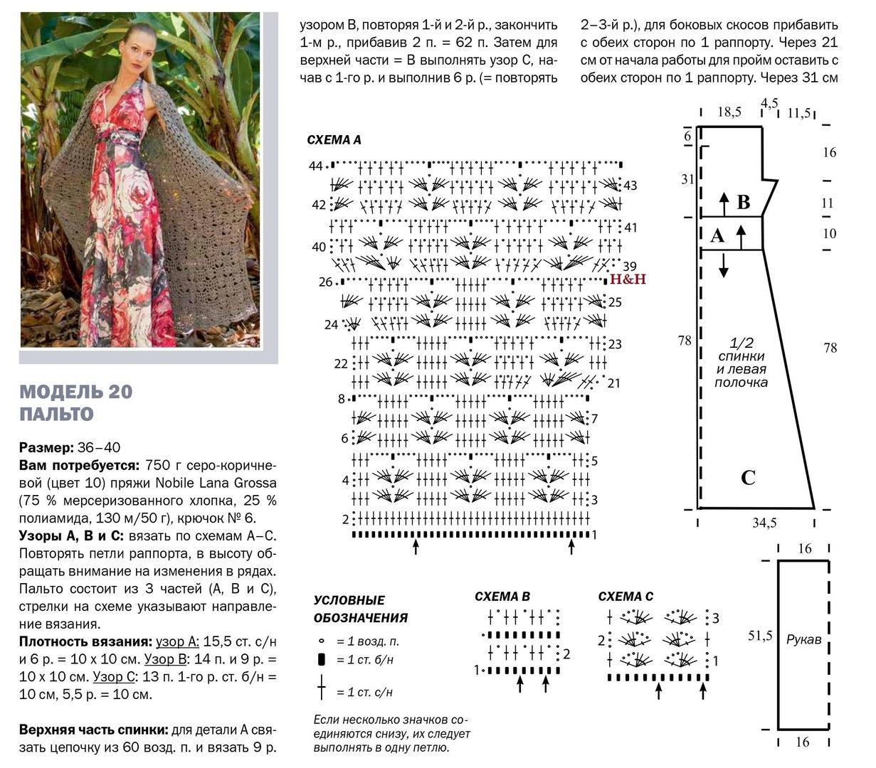 palto krjuchkom dlja zhenshhin 2 - Вязаное пальто крючком для женщин схемы и описание