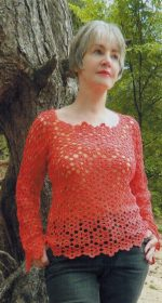 pulover krjuchkom iz motivov 150x280 - Вязаный пуловер женский крючком схемы и описание