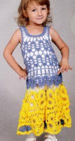 azhurnoe plate krjuchkom dlja devochki 150x280 - Вязаное платье крючком для девочки схемы и описание