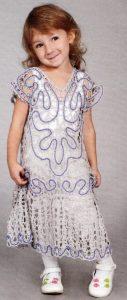 ажурное платье крючком для девочки 3 лет