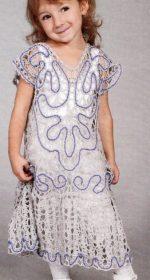 azhurnoe plate krjuchkom dlja devochki 3 let 150x280 - Вязаное платье крючком для девочки схемы и описание
